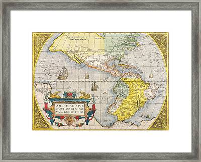 The Americas Framed Print by Celestial Images