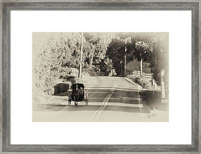 The Amish Buggy Framed Print by Bill Cannon
