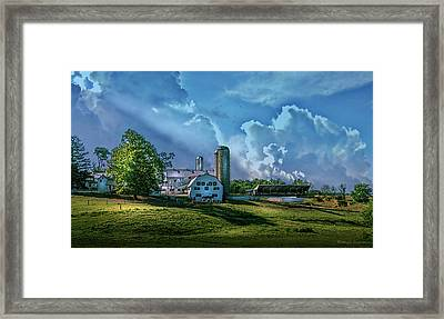 The Amish Farm Framed Print by Marvin Spates