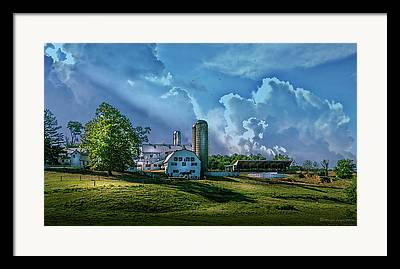 Amish Farms Photographs Framed Prints