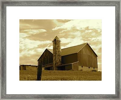 The Amish Silo Barn Framed Print