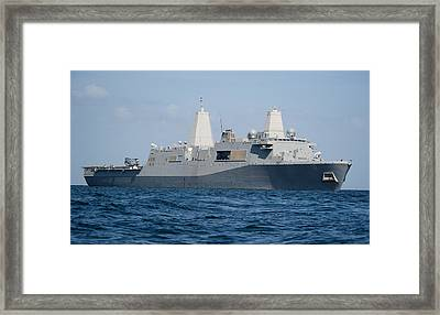 The Amphibious Transport Dock Ship Uss Framed Print