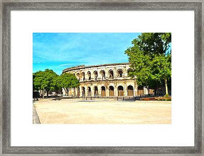 The Amphitheatre Nimes Framed Print by Scott Carruthers