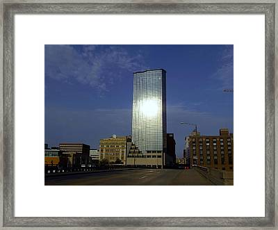 The Amway Grand Plaza Hotel At Dusk Framed Print by Richard Gregurich