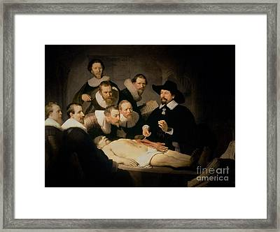 The Anatomy Lesson Of Doctor Nicolaes Tulp Framed Print