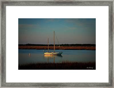 The Anchor Holds 2 Beaufort South Carolina Sailboat Art  Framed Print
