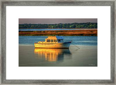 The Anchor Holds Beaufort South Carolina Boat Art Framed Print by Reid Callaway