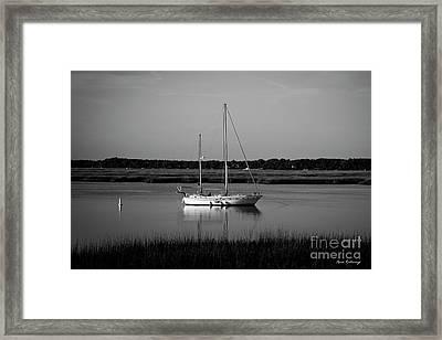 The Anchor Still Holds Beaufort South Carolina Sailboat Art  Framed Print