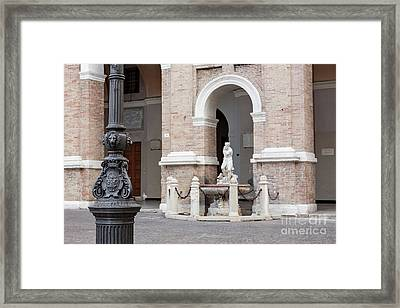 The Ancient Coat Of Arms Framed Print by Luigi Morbidelli