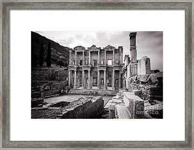 The Ancient Library Framed Print