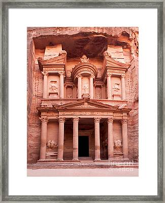 The Ancient Treasury Petra Framed Print