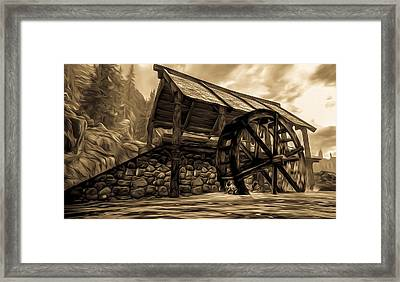 The Ancient Watermill  Framed Print