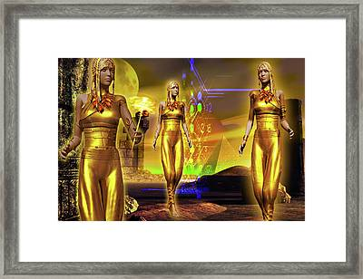 Framed Print featuring the digital art The Ancients  by Shadowlea Is