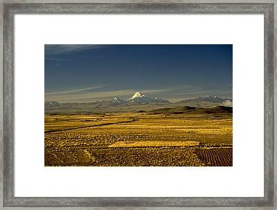 The Andes Framed Print