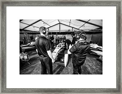 The Andretti Team Framed Print by Kevin Cable
