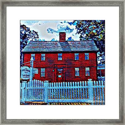 The Andrew Homestead Meriden,ct Framed Print by MaryLee Parker