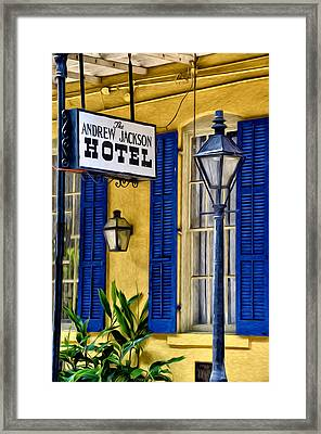 The Andrew Jackson Hotel - New Orleans Framed Print by Bill Cannon