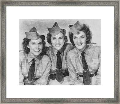 The Andrews Sisters Framed Print by John Springfield