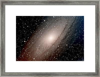 The Andromeda Galaxy Close  Up Framed Print by Jim DeLillo