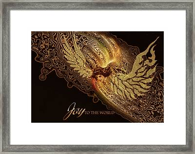 Framed Print featuring the painting The Angel Cometh by Valerie Anne Kelly
