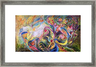The Angel Of Flowers Framed Print by Elena Kotliarker