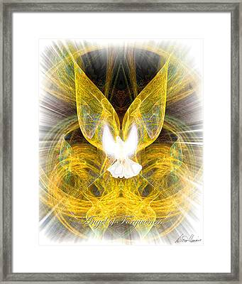 The Angel Of Forgiveness Framed Print