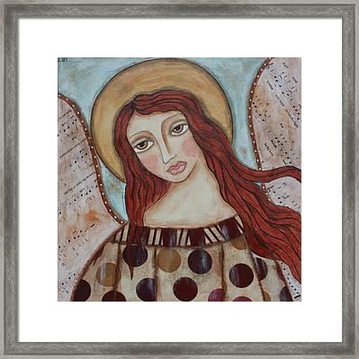 The Angel Of Hope Framed Print by Rain Ririn