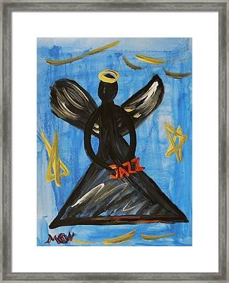 The Angel Of Jazz Framed Print by Mary Carol Williams