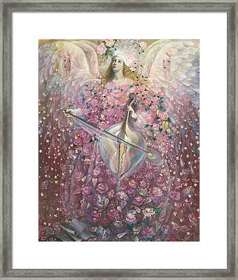 The Angel Of Love Framed Print by Annael Anelia Pavlova