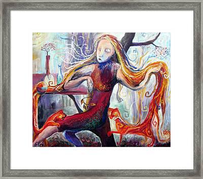 The Angel Of October Framed Print