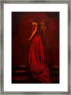 The Angel Of Love Framed Print
