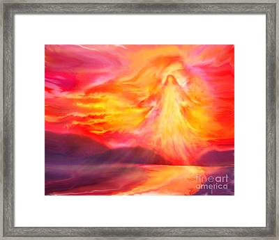 The Angel Of Protection Framed Print by Glenyss Bourne