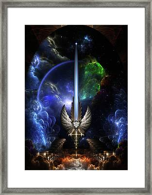 The Angel Wing Sword Of Arkledious Space Framed Print