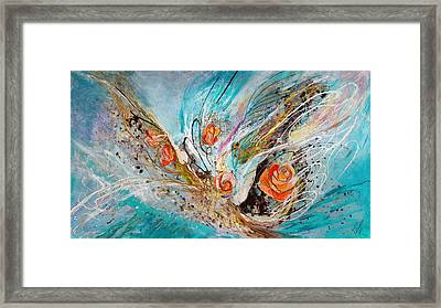 The Angel Wings #10. The Five Roses Framed Print