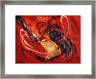 The Angel Wings #2 Duality Of Truth Framed Print by Elena Kotliarker