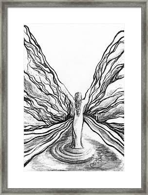 The Angel Within  Framed Print by Mikel Zuiderveen