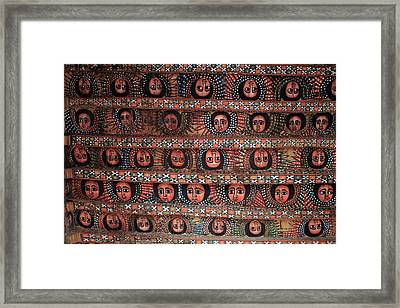 The Angels Of Debre Birhan Selassie Church Framed Print