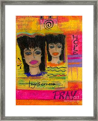 The Angels Of Hope And Prayer Framed Print by Angela L Walker