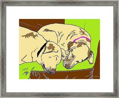 The Angels Sleep Framed Print by Su Humphrey