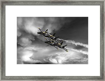 The Angels - Yellow Framed Print by J Biggadike