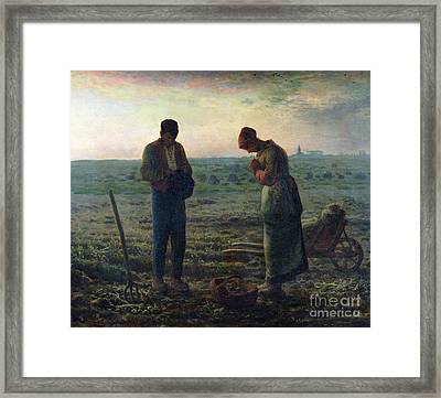 The Angelus Framed Print