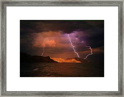 The Anger Of The Lord Framed Print by Yuri Hope