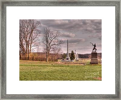The Angle At Cemetery Hill Framed Print