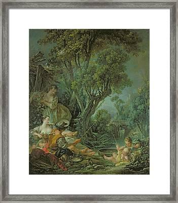 The Angler Framed Print by Francois Boucher