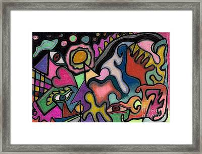 The Angry Eye Framed Print by Christine Perry