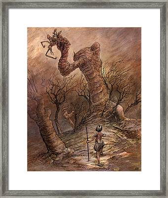 The Angry Hill Framed Print by Ethan Harris