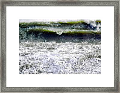 The Angry Sea Framed Print by Olivier Le Queinec