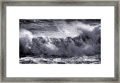 The Angry Wave Framed Print by Olivier Le Queinec