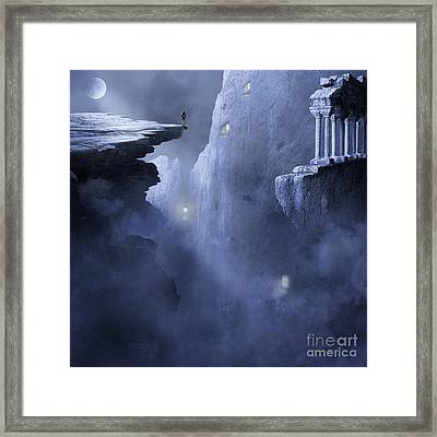 The Anguish Of The Piligrim Framed Print