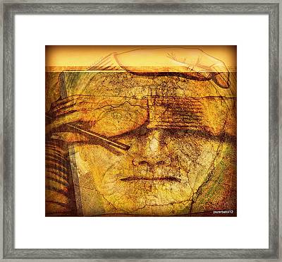 The Anguish Of The Return Lives In Your Eyes Framed Print by Paulo Zerbato
